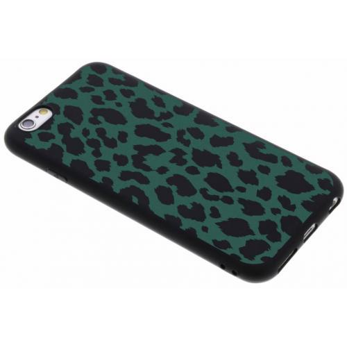 Design Backcover Color voor iPhone 6 / 6s - Panter Groen