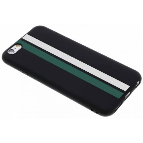 Design Backcover Color voor iPhone 6 / 6s - Stripes Green