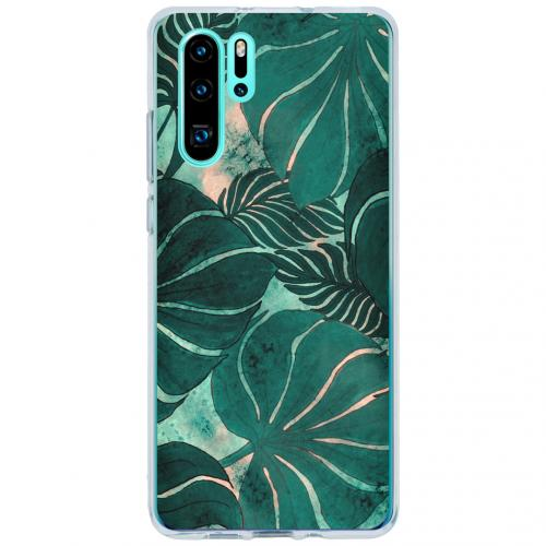 Design Backcover voor de Huawei P30 Pro - Monstera