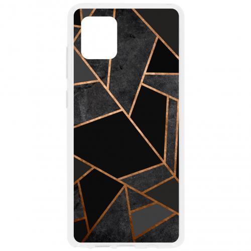 Design Backcover voor de Samsung Galaxy Note 10 Lite - Grafisch Zwart / Koper