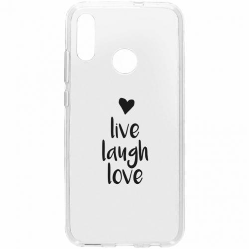 Design Backcover voor Honor 10 Lite - Live Laugh Love
