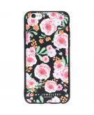 Design Backcover voor iPhone 6 / 6s - Pink Flowers Zwart