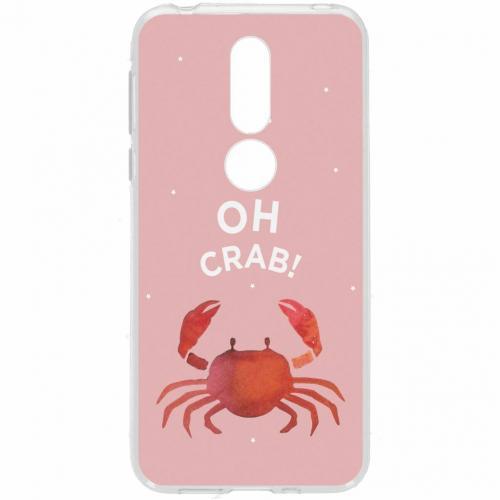 Design Backcover voor Nokia 7.1 - Oh Crab