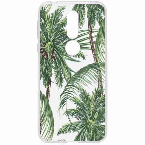 Design Backcover voor Nokia 7.1 - Palmbomen Groen