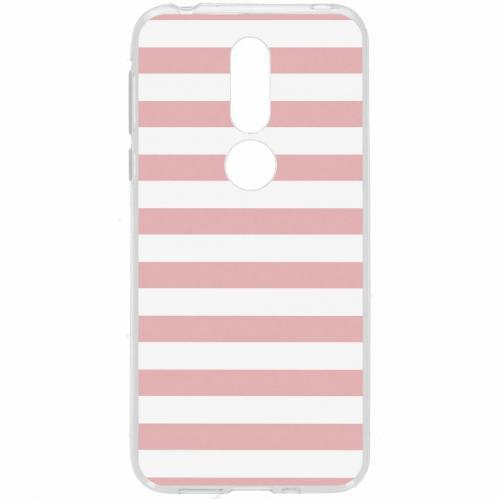 Design Backcover voor Nokia 7.1 - Stripes Pink