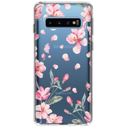 Design Backcover voor Samsung Galaxy S10 - Bloesem Watercolor