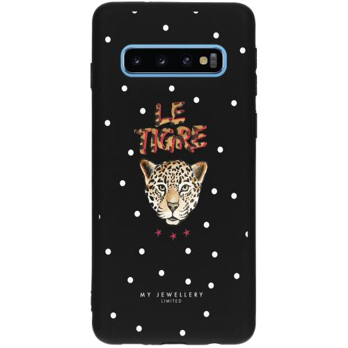 Design Backcover voor Samsung Galaxy S10 - Le Tigre