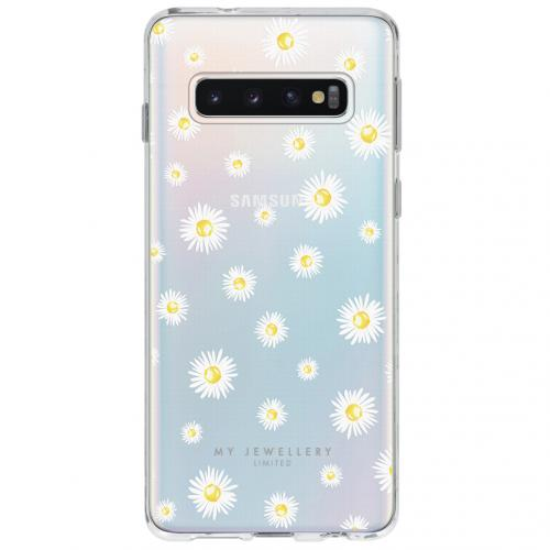 Design Backcover voor Samsung Galaxy S10 - Madeliefjes