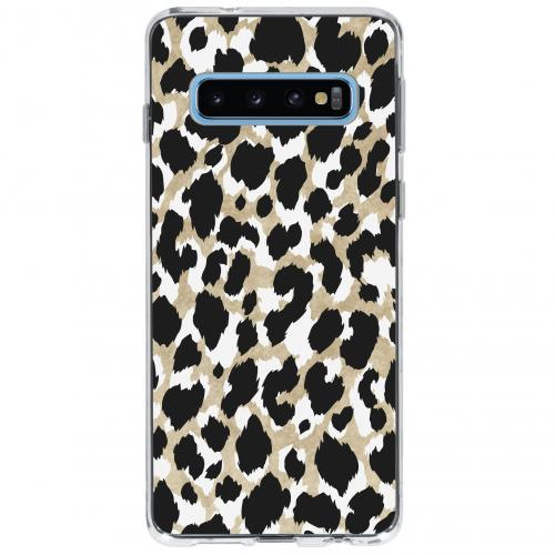 Design Backcover voor Samsung Galaxy S10 - Panter Zwart
