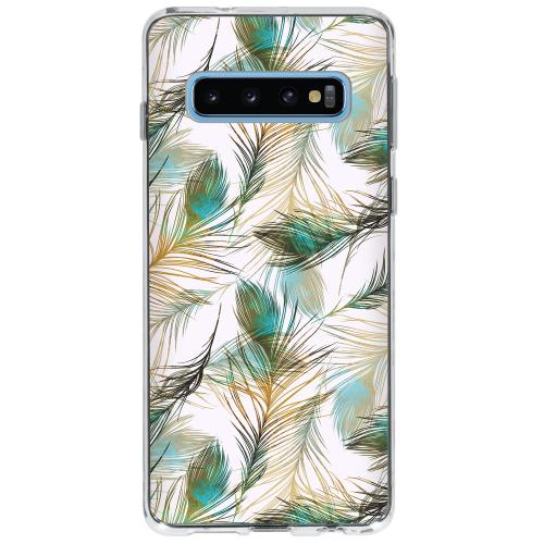 Design Backcover voor Samsung Galaxy S10 - Pauw Goud