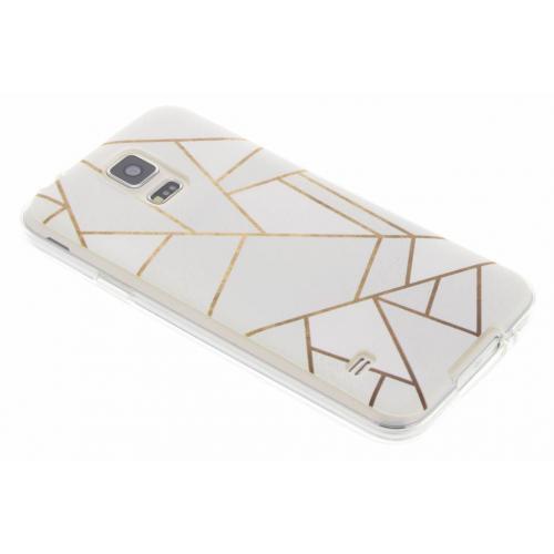 Design Backcover voor Samsung Galaxy S5 (Plus) / Neo - Grafisch Wit / Koper