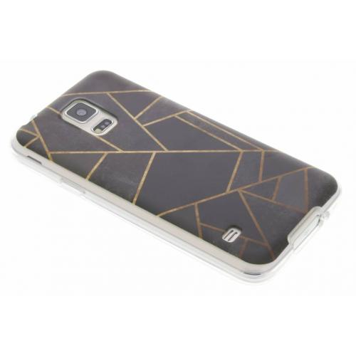 Design Backcover voor Samsung Galaxy S5 (Plus) / Neo - Grafisch Zwart / Koper