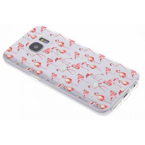 Design Backcover voor Samsung Galaxy S7 - Flamingo