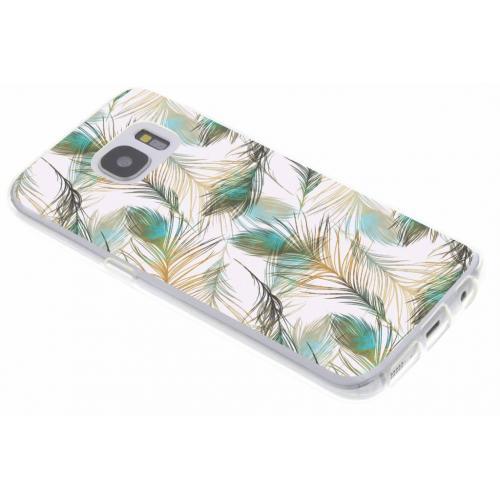 Design Backcover voor Samsung Galaxy S7 - Pauw Goud