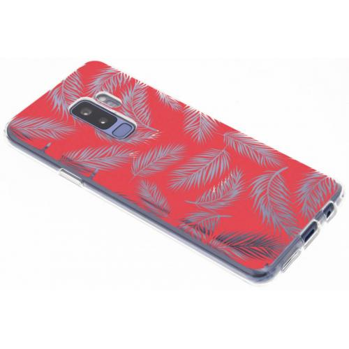 Design Backcover voor Samsung Galaxy S9 Plus - Botanic Rood