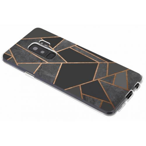 Design Backcover voor Samsung Galaxy S9 Plus - Grafisch Zwart / Koper
