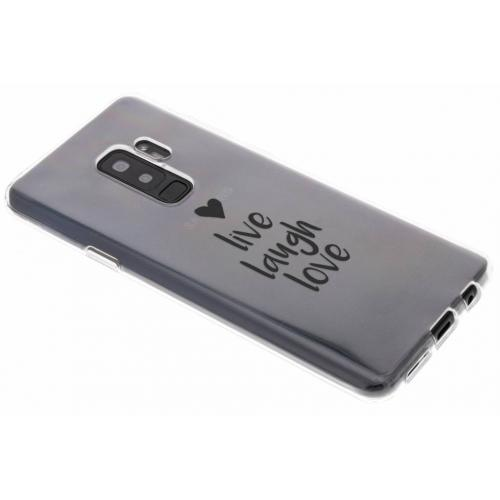 Design Backcover voor Samsung Galaxy S9 Plus - Live Laugh Love
