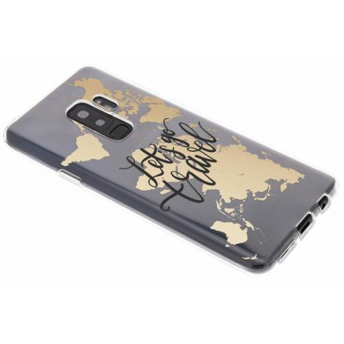 Design Backcover voor Samsung Galaxy S9 Plus - Quote Wereldkaart