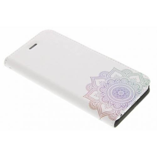 Design Hardcase Booktype voor iPhone 6 / 6s - Mandala Multicolor