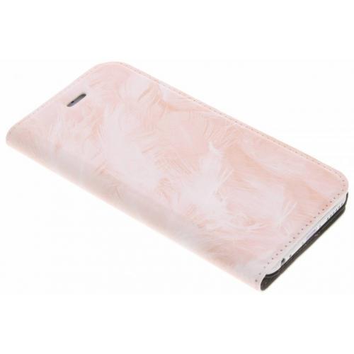 Design Hardcase Booktype voor iPhone 6 / 6s - Rose Feathers