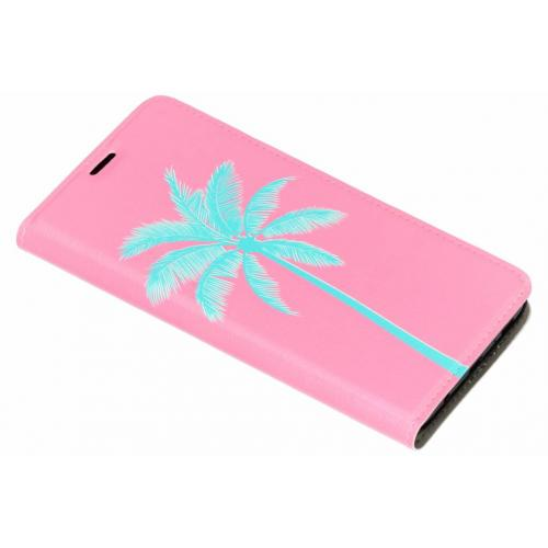 Design Hardcase Booktype voor Samsung Galaxy S9 Plus - Palm Roze