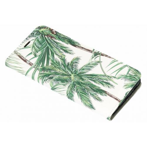 Design Hardcase Booktype voor Samsung Galaxy S9 Plus - Palmbomen Groen
