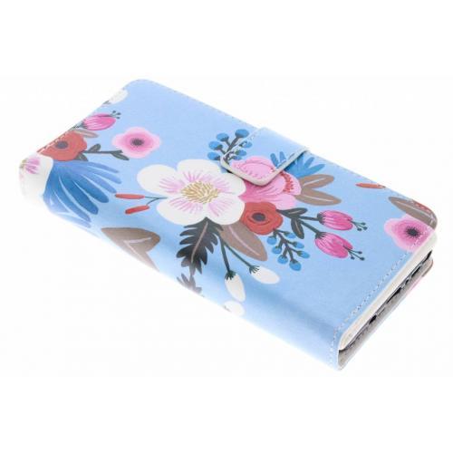 Design Portemonnee 9 slots voor Samsung Galaxy Note 8 - Bloemen Blauw