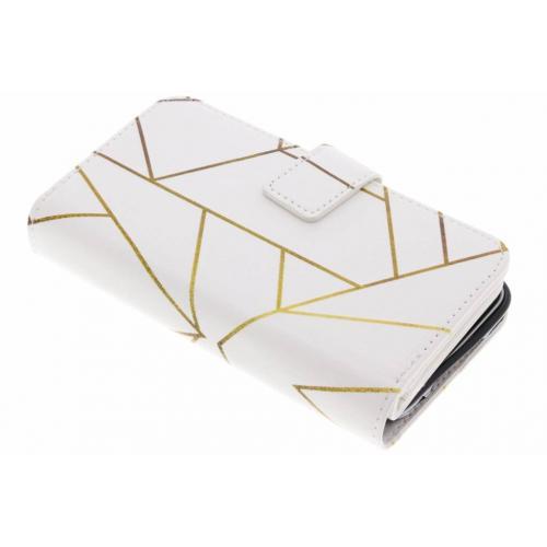 Design Portemonnee 9 slots voor Samsung Galaxy S5 (Plus) / Neo - Grafisch Wit / Koper