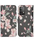 Design Softcase Book Case Galaxy A52 (5G) / A52 (4G) - Blossom Watercolor Black