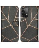Design Softcase Book Case voor de Samsung Galaxy A52 (5G) / A52 (4G) - Black Graphic
