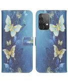 Design Softcase Book Case voor de Samsung Galaxy A52 (5G) / A52 (4G) - Vlinders