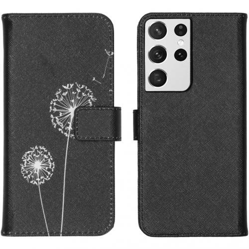 Design Softcase Book Case voor de Samsung Galaxy S21 Ultra - Dandelion