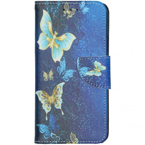 Design Softcase Booktype voor de iPhone 11 - Vlinders