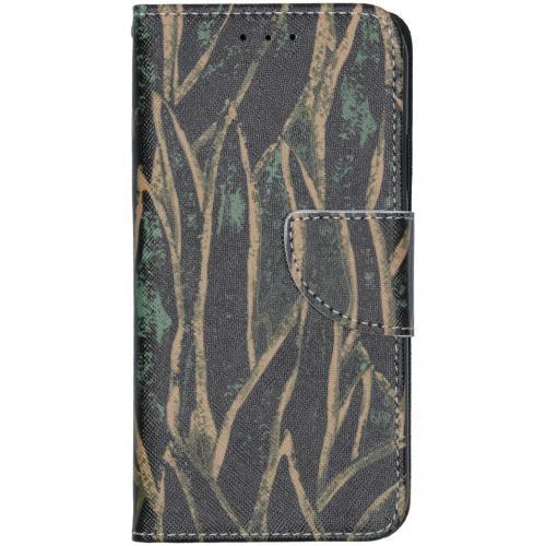 Design Softcase Booktype voor de iPhone 11 - Wild Bladeren