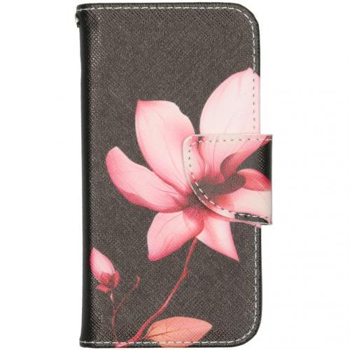 Design Softcase Booktype voor de iPhone 12 5.4 inch - Bloemen