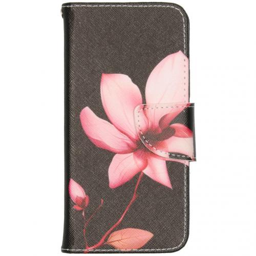 Design Softcase Booktype voor de iPhone 12 6.1 inch - Bloemen