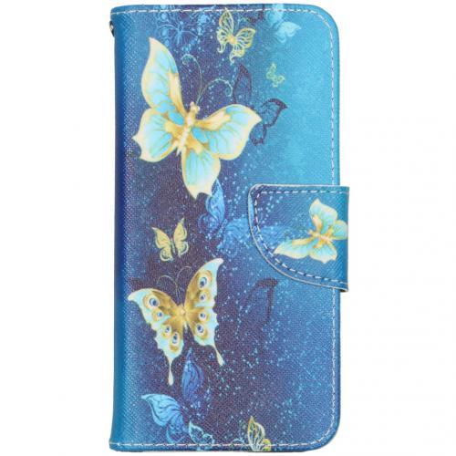 Design Softcase Booktype voor de iPhone 12 6.1 inch - Vlinders