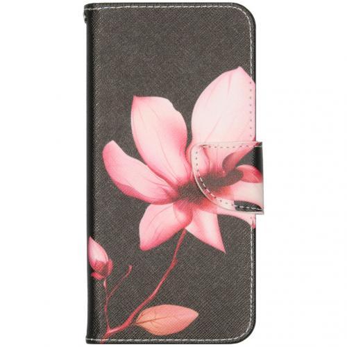 Design Softcase Booktype voor de iPhone 12 6.7 inch - Bloemen
