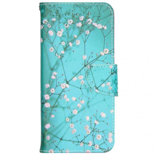 Design Softcase Booktype voor de iPhone 12 6.7 inch - Bloesem