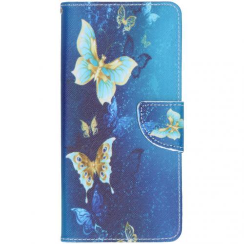 Design Softcase Booktype voor de Samsung Galaxy A71 - Vlinders