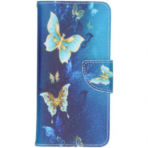Design Softcase Booktype voor de Samsung Galaxy S20 - Vlinders