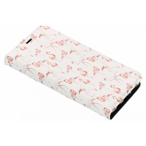 Design Softcase Booktype voor Samsung Galaxy S9 Plus - Flamingo
