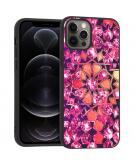 Design voor de iPhone 12 (Pro) hoesje - Grafisch - Roze Bling