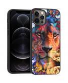 Design voor de iPhone 12 (Pro) hoesje - Jungle - Leeuw