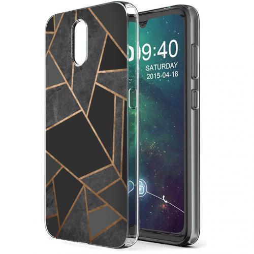 Design voor de Nokia 2.3 hoesje - Grafisch Koper - Zwart / Goud