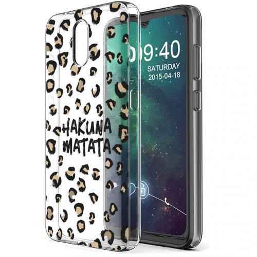 Design voor de Nokia 2.3 hoesje - Luipaard - Bruin / Zwart