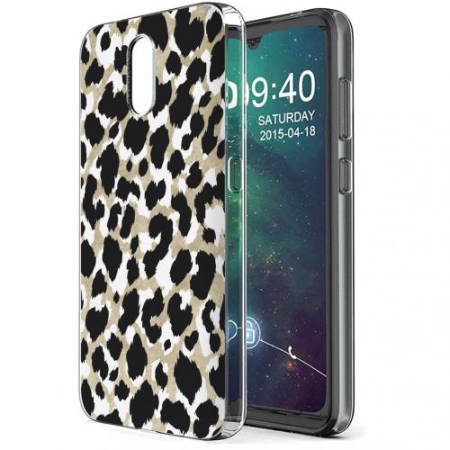 Design voor de Nokia 2.3 hoesje - Luipaard - Goud / Zwart