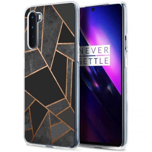 Design voor de OnePlus Nord hoesje - Grafisch Koper - Zwart / Goud