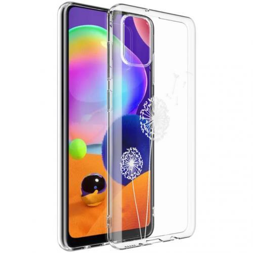 Design voor de Samsung Galaxy A31 hoesje - Paardenbloem - Wit
