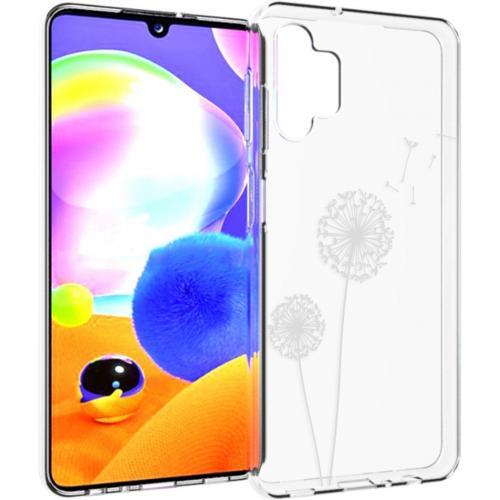 Design voor de Samsung Galaxy A32 (5G) hoesje - Paardenbloem - Wit